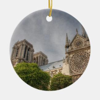 Notre Dame Round Ceramic Decoration