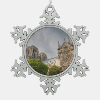 Notre Dame Snowflake Pewter Christmas Ornament