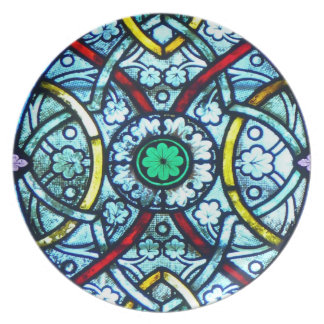 Notre Dame Stained Glass Dinner Plates