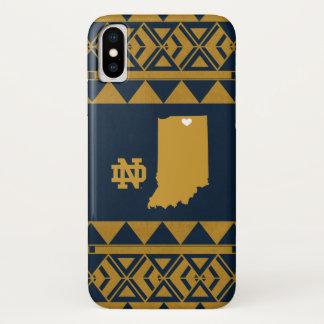 Notre Dame | Tribal State Love iPhone X Case