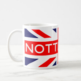 Nottingham : British Flag Basic White Mug