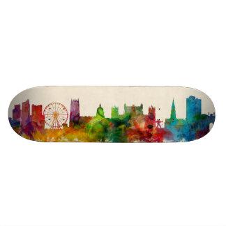 Nottingham England Skyline Skate Deck
