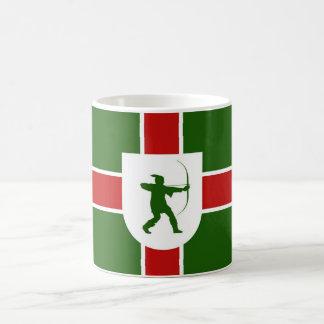 nottinghamshire region flag england robin hood coffee mug