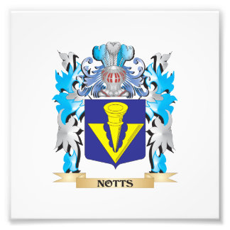 Notts Coat of Arms - Family Crest Art Photo