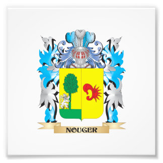 Nouger Coat of Arms - Family Crest Photographic Print