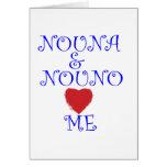 NOUNA AND NOUNO LOVE ME CARDS