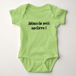 Nourish to me slave! baby bodysuit