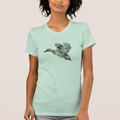Nouveau Art Mallard Duck Tshirt
