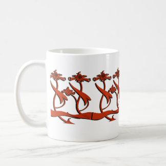 Nouveau Beardsley Flowers Coffee Mug