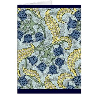Nouveau Blue Flowers Card