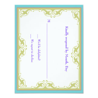 Nouveau Bright Insert 11 Cm X 14 Cm Invitation Card