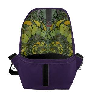 Nouveau Floral Abstract Interior Commuter Bag