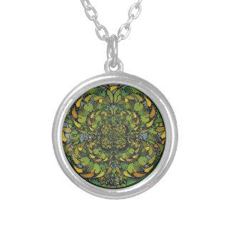 Nouveau Floral Abstract Necklace Pendant