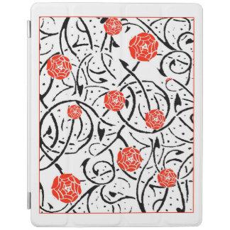 Nouveau Floral Illustration iPad Cover
