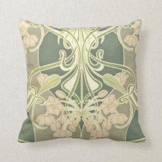 Nouveau Floral Ornamentation Cushion