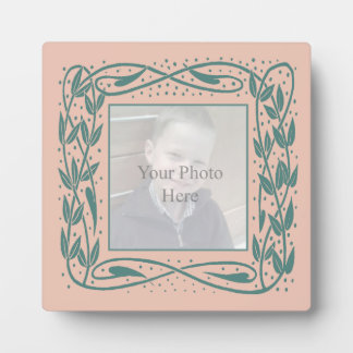 Nouveau Frame Plaque in Pink and Turquoise