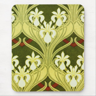 Nouveau in Spring Green Mouse Pad
