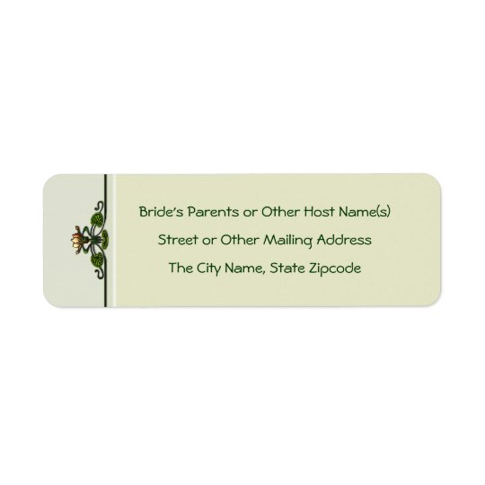 Nouveau Lilies (Return Address Labels) Return Address Label