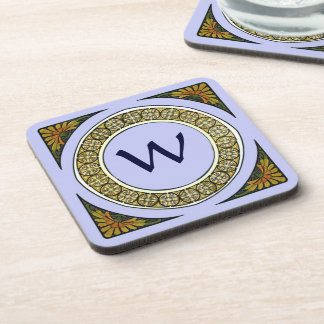 Nouveau Medallion Monogram Coasters