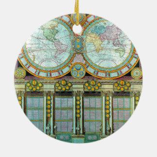 Nouveau Monde -Old-Cartographic-Maps Ceramic Ornament