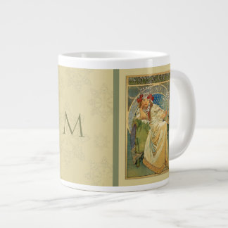 Nouveau Mucha Princess Monogram Mug