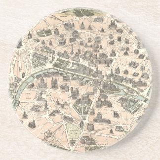 Nouveau Paris Monumental Map Coaster