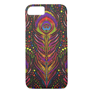 nouveau peacock feather iphone case in magenta