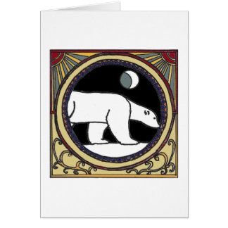 Nouveau Polar Bear Card