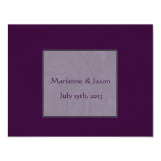 """Nouveau Snowdrops Purple Wedding Invitation 4.25"""" X 5.5"""" Invitation Card"""