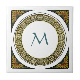 Nouveau Style Monogram Ceramic Tile