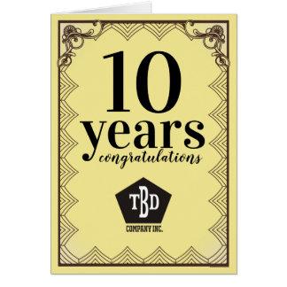 Nouveau universal employee anniversary card