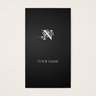 Nouveau vertical line business card