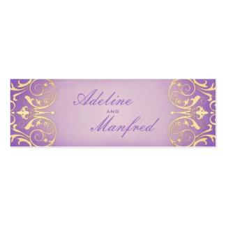Nouveau Victorian Lilac & Gold Wedding Website Business Card