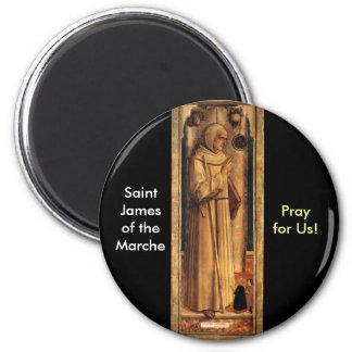 Nov 28 St. James of the Marche 6 Cm Round Magnet