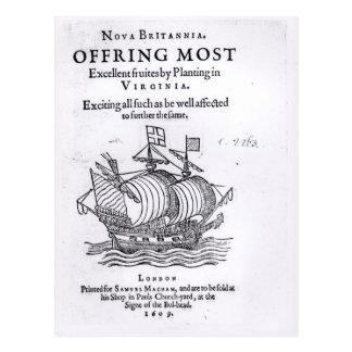 Nova Britannia. Offring Most Excellent Fruites Postcard