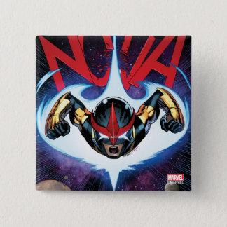 Nova Flying At Top Speed 15 Cm Square Badge