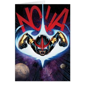 Nova Flying At Top Speed Card