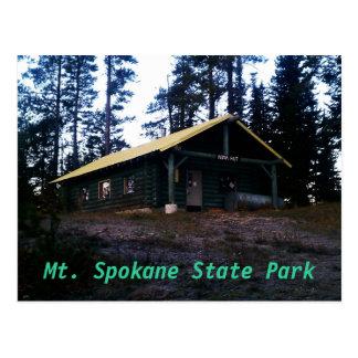 Nova Hut Mt. Spokane State Park Postcard