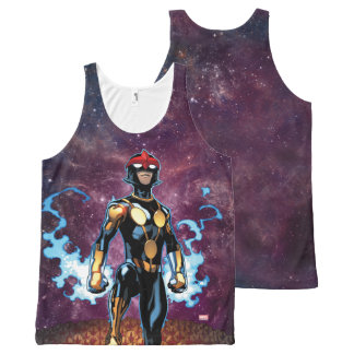 Nova Over Fallen Nova Corps Helmets All-Over Print Singlet