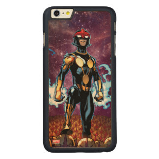 Nova Over Fallen Nova Corps Helmets Carved Maple iPhone 6 Plus Case