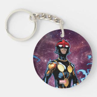 Nova Over Fallen Nova Corps Helmets Key Ring