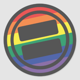 NOVA Pride Logo - Round Classic Round Sticker