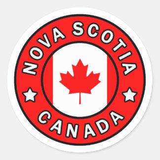 Nova Scotia Canada Classic Round Sticker