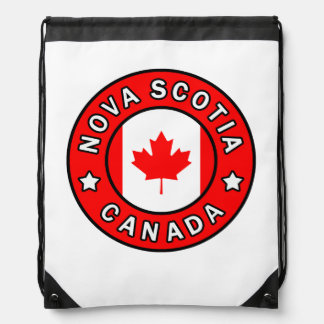 Nova Scotia Canada Drawstring Bag