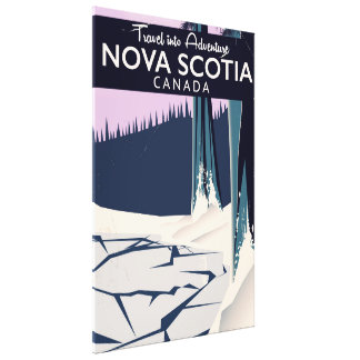 Nova Scotia, Canada holiday travel poster. Canvas Print