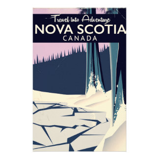 Nova Scotia, Canada holiday travel poster. Stationery