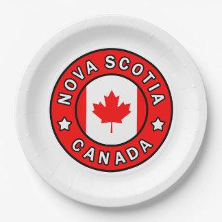 Nova Scotia Canada Paper Plate