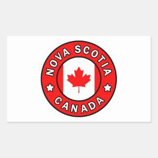 Nova Scotia Canada Rectangular Sticker