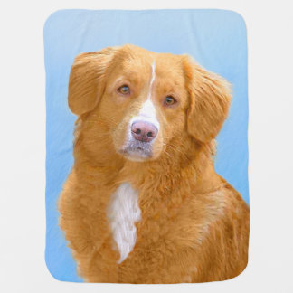 Nova Scotia Duck Tolling Retriever Baby Blanket