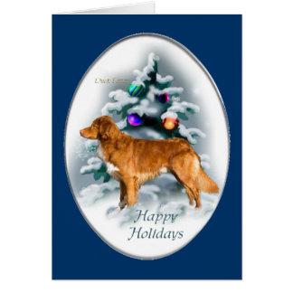 Nova Scotia Duck Tolling Retriever Christmas Gifts Card